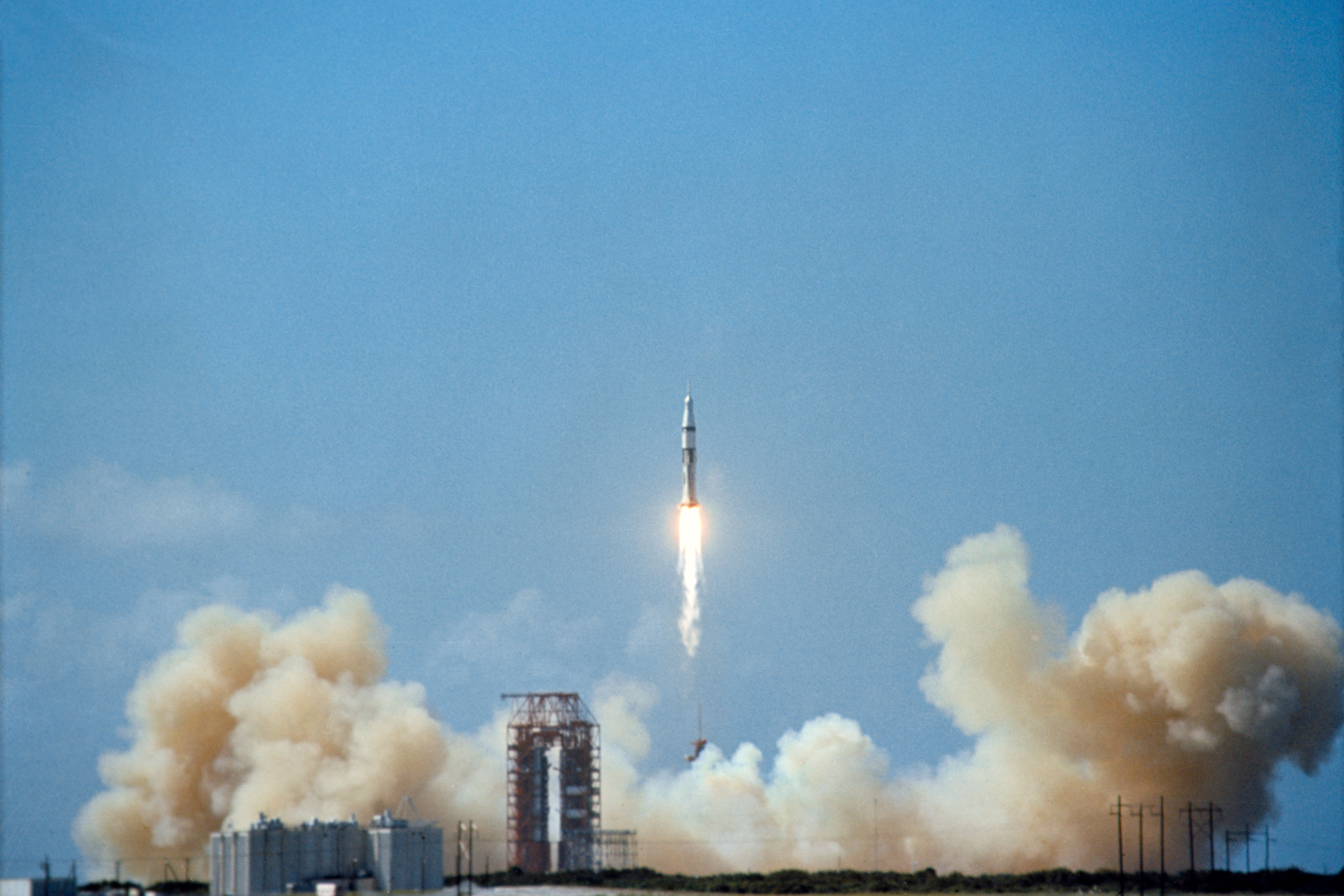 Apollo 7 capsule lifts off from Cape Canaveral | Florida ...