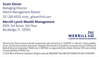 Merrill, a Bank of America company - Scott Glover Managing Director, Rockledge FL.