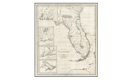 Map that William Darby published in 1821