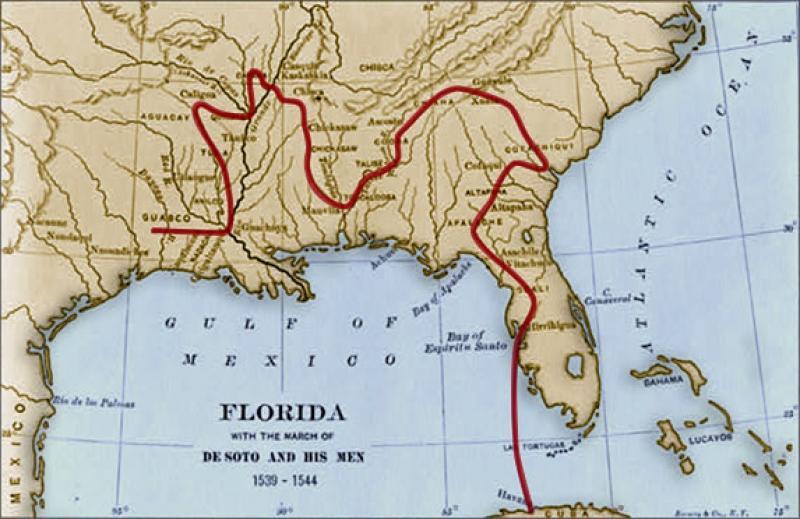 Florida Frontiers Hernando De Soto In La Florida Florida - Map de florida