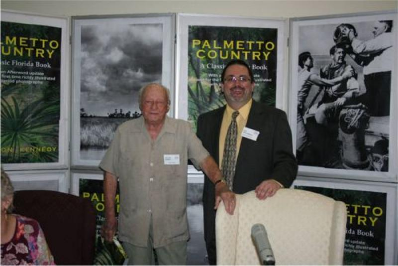 Author and activist Stetson Kennedy with Florida Historical Society executive director Ben Brotemarkle