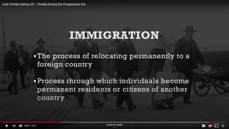Fast Florida History #2 - Immigration
