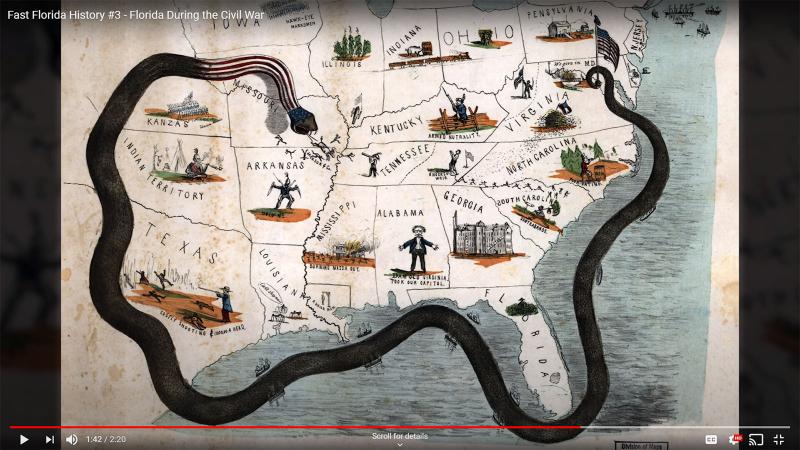 Fast Florida History #3 - Civil War Blockade
