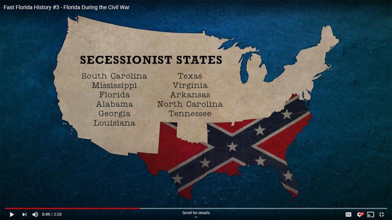 Fast Florida History #3 - Civil War Secessionist States