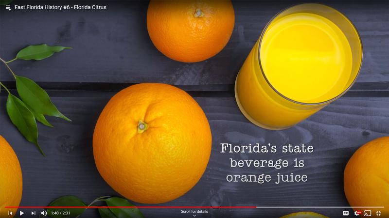 Fast Florida History #6 - Orange Juice State Juice