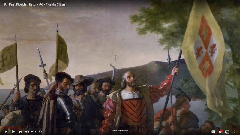 Fast Florida History #6 - Spanish bring Citrus to St. Augustine Florida