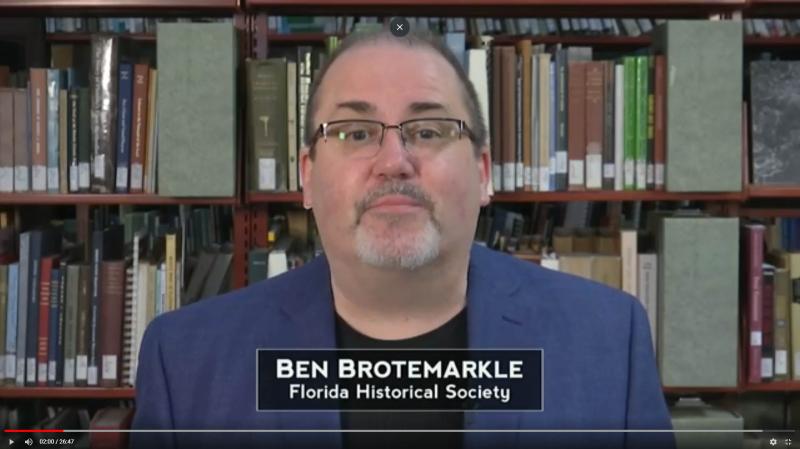 Dr. Ben Brotemarkle, Executive Director of the Florida Historical Society