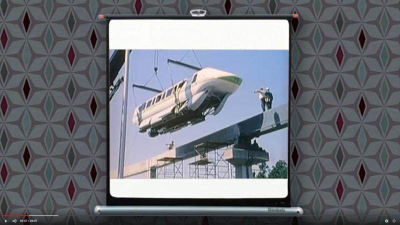 Walt Disney World monorail construction