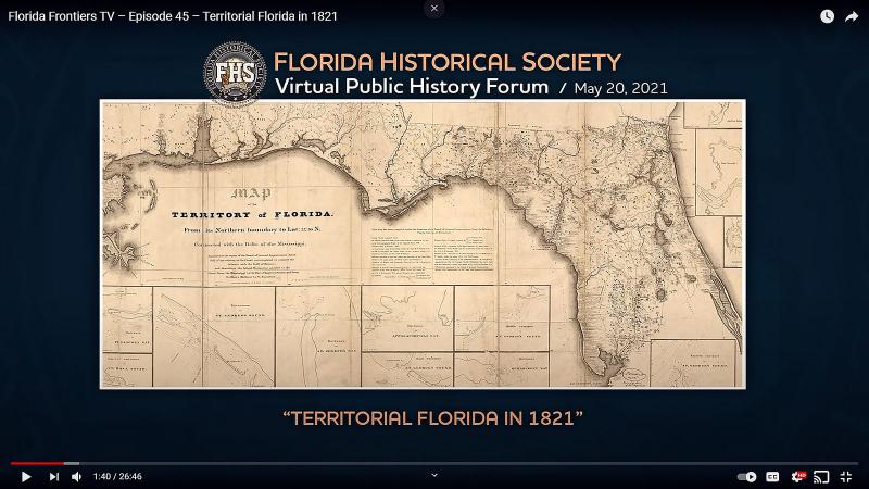 Florida Frontiers TV – Episode 45 – Territorial Florida in 1821