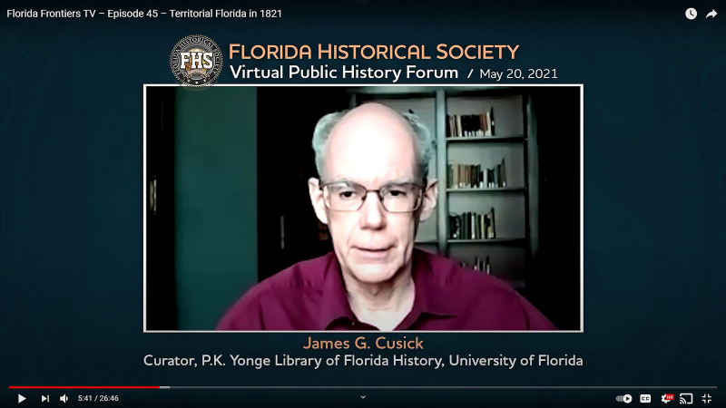 James G Cusick, Curator of P K Yonge Library of Florida History