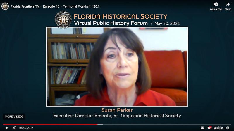 Susan Parker, Executive Director Emerita, St. Augustine Historical Society