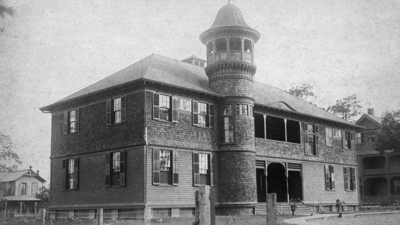Old photograph of Rollins College Building