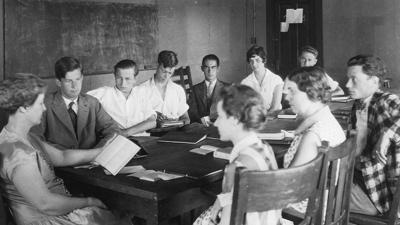 Old photograph of Rollins College Class