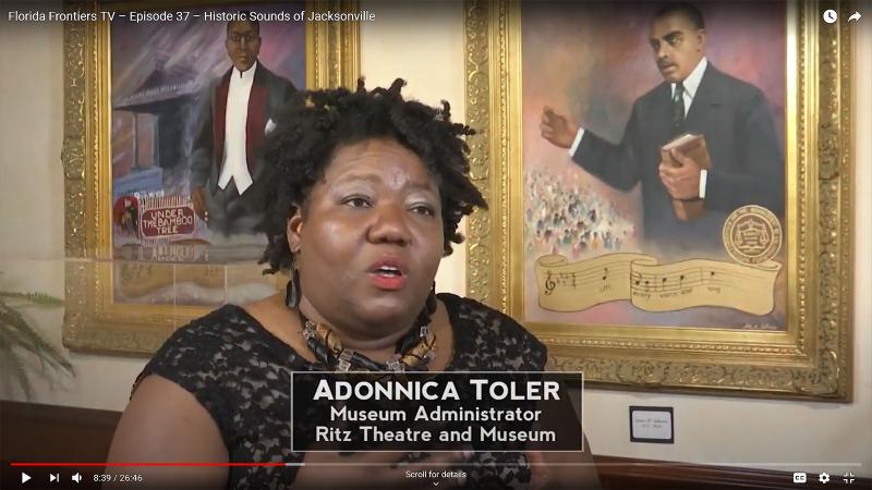 Adonnica Toler, Museum Administrator, Ritz Theatre and Museum