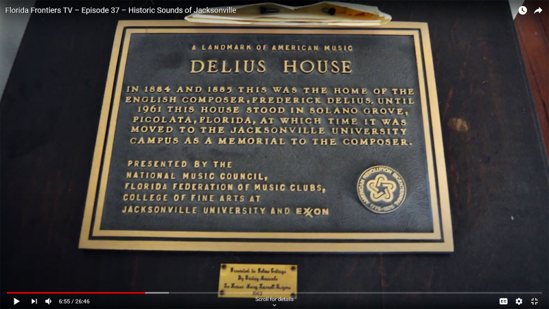 Delius House plaque