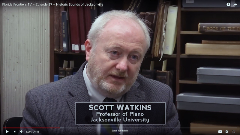 Scott Watkins, Professor of Piano, Jacksonville University