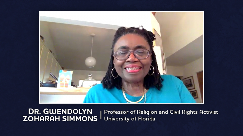 Dr. Gwendolyn Zoharrah Simmons, Professor of religion and Civil Righs Acvtifist, University of Florida
