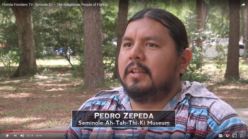 FFTV32, Pedro Zepeda, Seminole Ah-Tah-Thi-Ki Museum