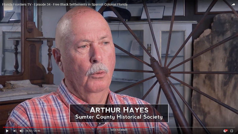 Arthur Hayes, Sumter County Historical Society
