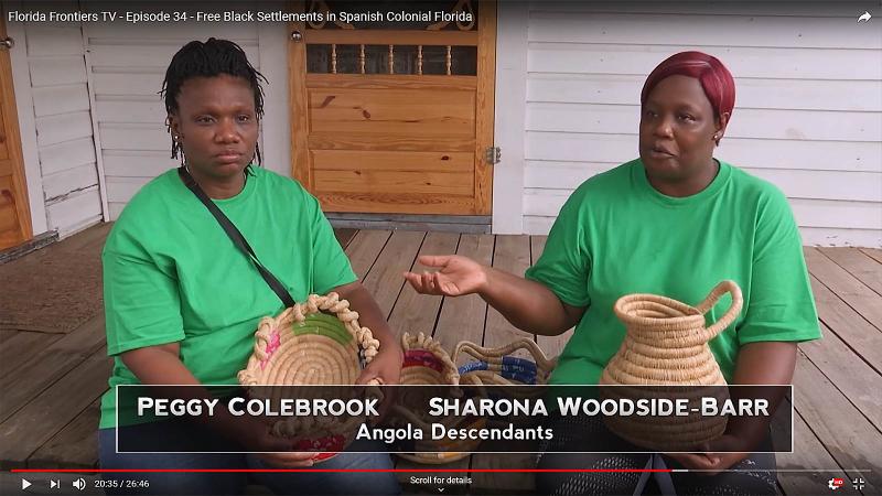 Peggy Colebrook, Sharona Woodside Barr, Angola Descendants