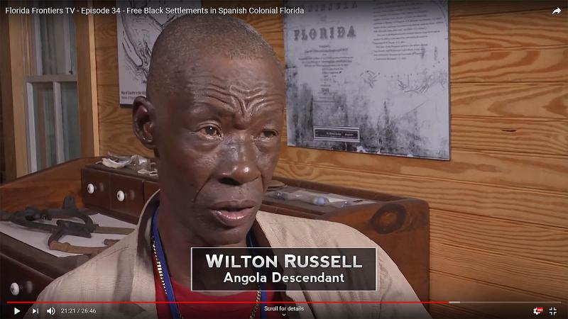 Wilton Russell, Angola Descendant