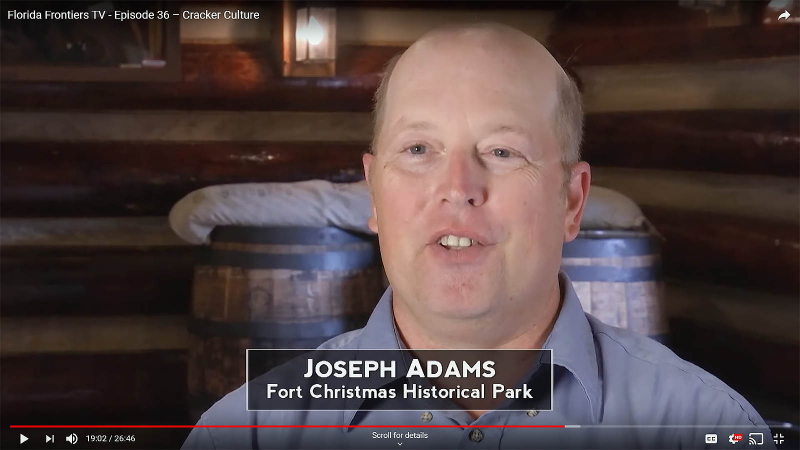 Joseph Adams, Fort Christmas Historical Park