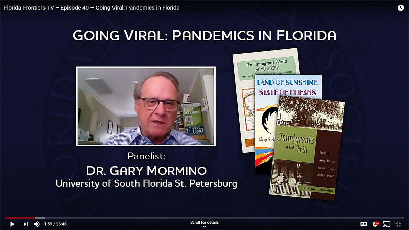 Dr. Gary Mormino, University of South Florida St. Petersburg