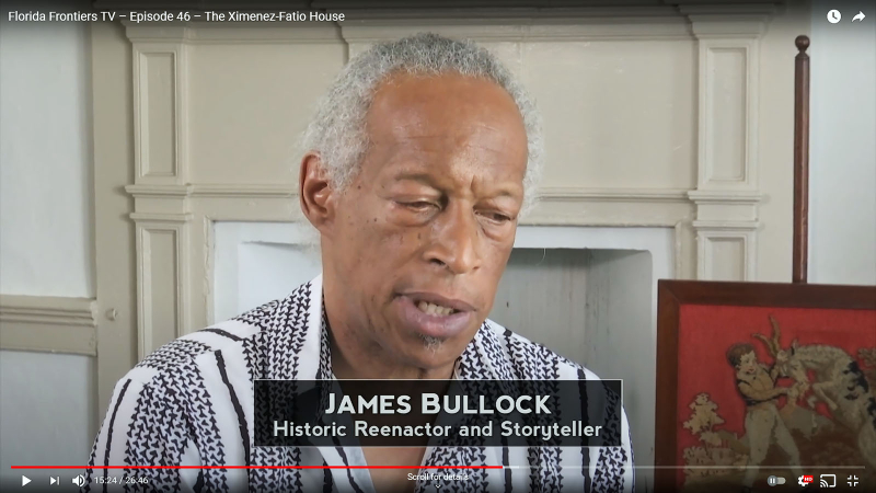 James Bullock, Reenactor and Storyteller